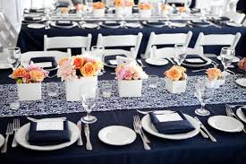 navy blue table linens navy blue lace runner burgandy napkins google search wedding