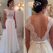 beading wedding dresses lace wedding dresses bohemian backless 2015 white scalloped sheer