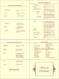 Wedding Reception Program Sample Wedding Ceremony Program Template Sponsorship Letter Theatre