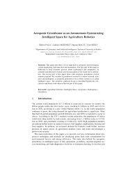 aeroponic greenhouse as an autonomous system using intelligent