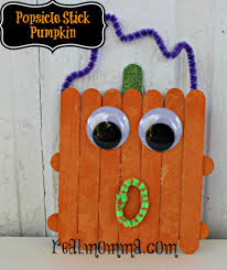 popsicle stick pumpkins kids crafts real momma