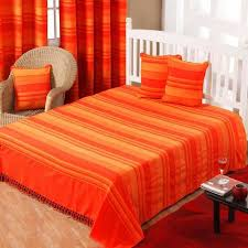 jetée canapé jeté de lit ou de canapé morocco rayures orange 250 x 355 cm