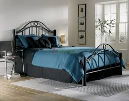 linden bed metal bed w frame in matte ebony finish by fbg xiorex