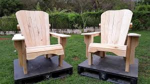 Diy Adirondack Chairs Unfinished Pallet Adirondack Chairs For Garden 101 Pallets