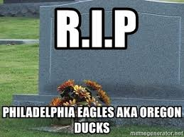 Tombstone Meme Generator - r i p philadelphia eagles aka oregon ducks rip tombstone meme
