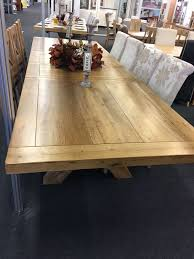 Extended Dining Table by Provence Solid Oak Extra Large Extending Dining Table Oak