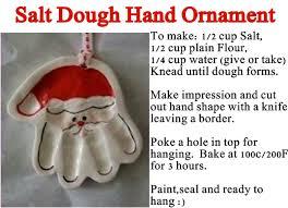salt dough print ornament diy craft projects
