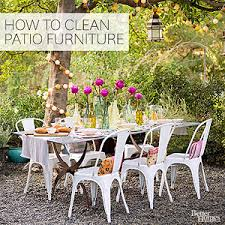 How To Remove Lichen From Patio How To Clean Outdoor Furniture
