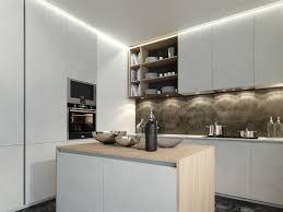 impressive small modern kitchen design with wooden kitchen island