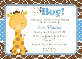 giraffe baby shower invitations lilbibby com