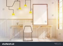 Home Office Interior Home Office Interior Futuristic Lamp Framed Stock Illustration