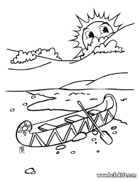 canoe coloring pages hellokids com