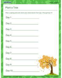 plant a tree u2013 free printable plant worksheet for grade 4 u2013 jumpstart