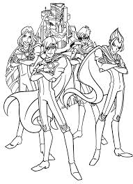 heroes winx coloring pages pinterest winx