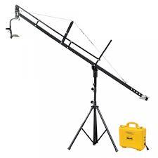 proaim 12ft camera jib arm with jib stand u0026 jr pan tilt head