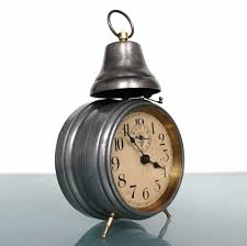 mauthe antique alarm mantel top clock 1920s german unusual model