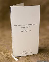 Catholic Wedding Program Cover Wedding Program Martha Stewart Weddings