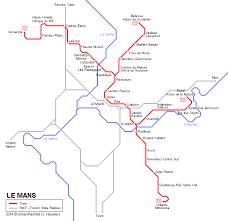 map of le mans urbanrail net europe le mans tram