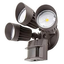 best led motion sensor light motion sensor flood light elegant led 3 head security 30w 2 450 with