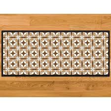 tapis de cuisine orange paillasson cuisine marron clair