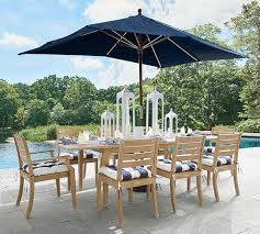 Patio Table And Umbrella Rectangular Market Umbrella Solid Pottery Barn