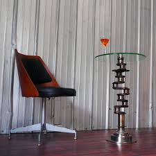 airplane engine aviation martini glass side table plane pieces