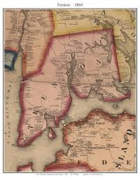 Hancock Ny Map Trenton Maine 1860 Old Town Map Custom Print Hancock Co Old Maps