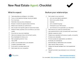 Resume Sample For Real Estate Agent by New Real Estate Agent Checklist