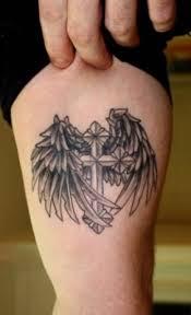 cross wings tattoos angel designs signs