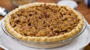 streusel topped pumpkin pie today