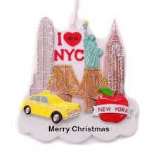 new york city silhouette personalized ornament