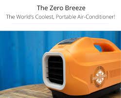Portable Desk Air Conditioner Zero Breeze The World U0027s Coolest Portable Air Conditioner By Zero