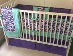 Purple And Aqua Crib Bedding Decor Purple And Grey Crib Bedding Sets Lostcoastshuttle Bedding Set