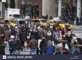 5th ave 42nd st in nyc on black friday the day after