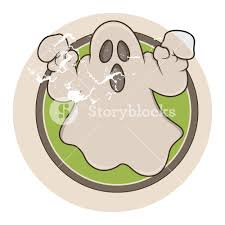 vintage cartoon ghost vector royalty free stock image storyblocks