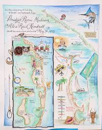 Map Of Florida And Bahamas by Wedding Maps Custom Map Art By Melissa Smith Venice Florida Artist