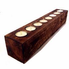 shop rustic wood candle holders on wanelo
