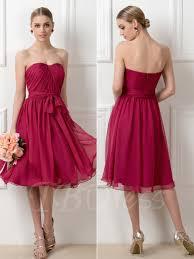 a line tea length convertible short bridesmaid dress tbdress com