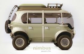 electric volkswagen van nimbus concept is a futuristic 4x4 take on the vw bus