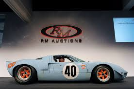 gulf gt40 1968 ford gt40 gulf mirage auctioned for a record 11 million