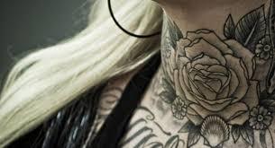 34 pleasant black rose neck tattoos