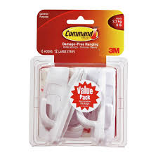 command large white utility hook value pack 6 hooks 12 strips