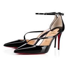 fliketta 85 black patent women shoes christian louboutin