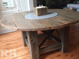 round table with lazy susan built in round table built in lazy susan reclaim renew