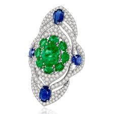 sapphire emerald rings images Sutra sjr1050 emerald and sapphire diamond ring zadok jpg