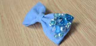 how to make hair bows make royal blue felt hair bows with kinds of step by step