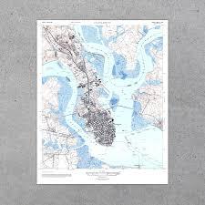 Charleston Sc Map Charleston Sc 1948 Usgs Map