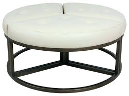 round cocktail ottoman leather leather cocktail ottoman rectangle