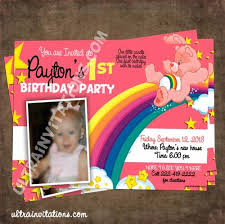 53 best care bear invitations images on pinterest care bears