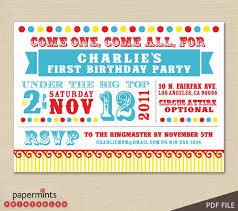 circus birthday invitations badbrya com